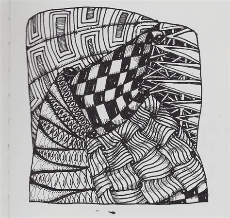 Zentangle Pattern Floor | french fries on the floor zentangle zentangleinspiredart