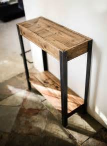 Hallway Side Table Entry Entry Table And Pallet Wood On