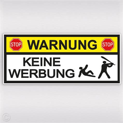 Bitte Keine Werbung Aufkleber Trafik warnung aufkleber mit baseball schl 228 ger keine