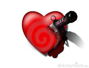 stabbed heart stock photos image 19188313