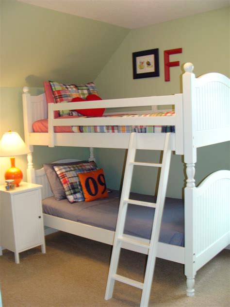 Cozy Bunk Beds For Boys With Stairs Home Cozy Bunk Bed Decorated Idea With Green Lime Wall Paint