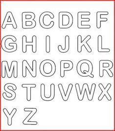 lettere alfabetiche stilizzate imagem relacionada molde letras alfabeto