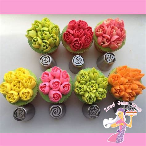 flower decorating tips instant flower nozzles set of 7 iced jems shop