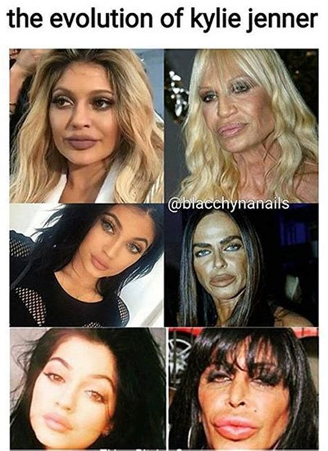 Kylie Jenner Meme - mean kylie jenner memes funny pictures about plastic surgery