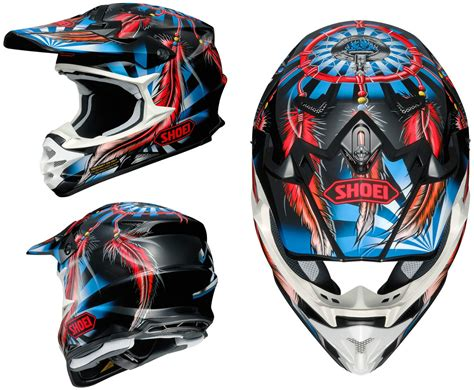 shoei motocross shoei vfx w motocross mx helmet grant 2 tc 1 red blue