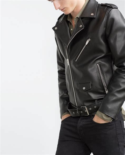 new handmade mens biker jacket mens fashion black leather