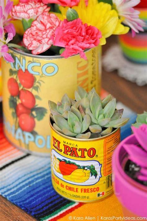 cinco de mayo centerpieces succulents and food cans cinco de mayo mexican by kara allen kara s ideas