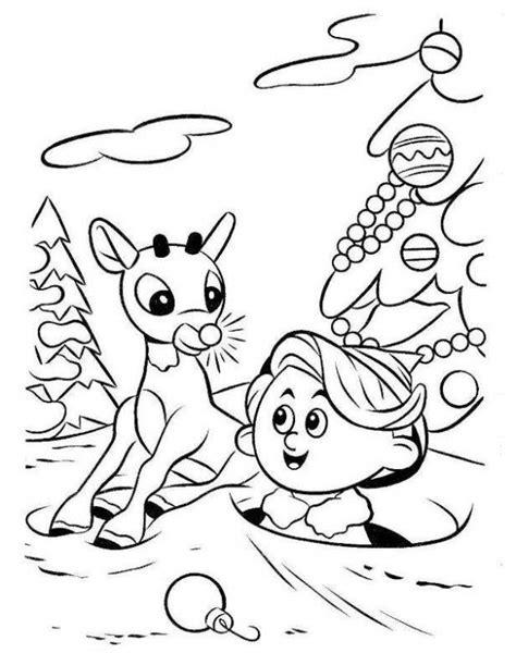 Hermey Black rudolph reindeer and hermey coloring page animal