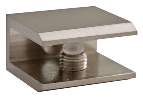 Glass Shelf Brackets Brushed Nickel by Brushed Nickel Square Glass Shelf Bracket
