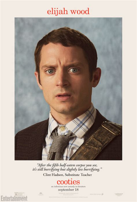 elijah wood jungle movie cooties character posters highlight teachers trying to