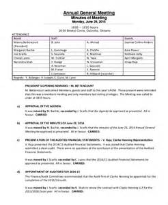 Annual General Meeting Minutes Template annual meeting minutes template 10 free word pdf