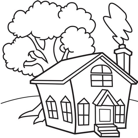 house coloring page for preschool 30 house coloring pages coloringstar