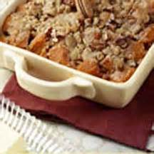 Maple Glazed Yams With Butter Pecan Topping Recipe