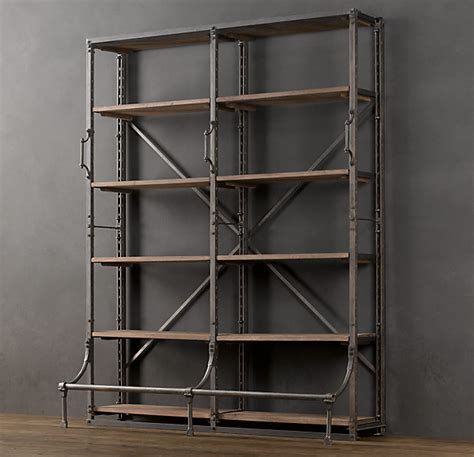 industrial bookshelves bookcases for a home office traditional white vs industrial driven by decor