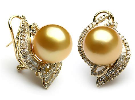 Pearl Earring golden south sea pearl earrings uk pearl magpie uk