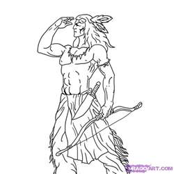doodle how to make warrior step 7 how to draw a indian warrior