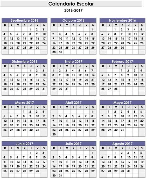 10 plantillas de calendario 2017 para imprimir tuexperto