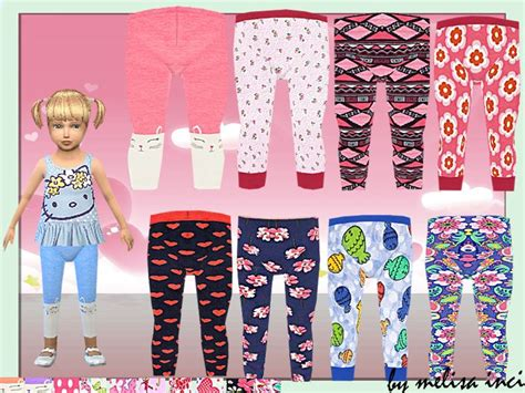 different pattern leggings lana cc finds toddler floral printed leggings ts4