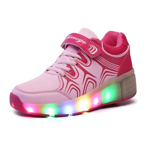 shoes with rollers new children heelys roller sneakers with led light