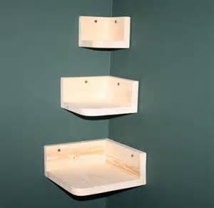 Nesting tiered corner wall shelves unifinished pine wood wall shelf