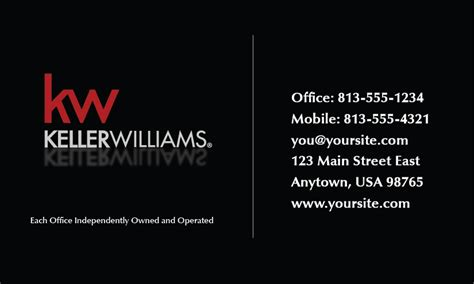 Keller Williams Buisness Card Template keller williams business card templates color
