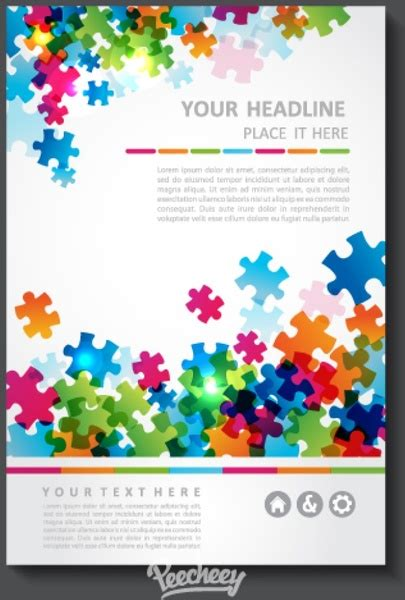 puzzle pattern ai business brochure with puzzle pattern free vector in adobe