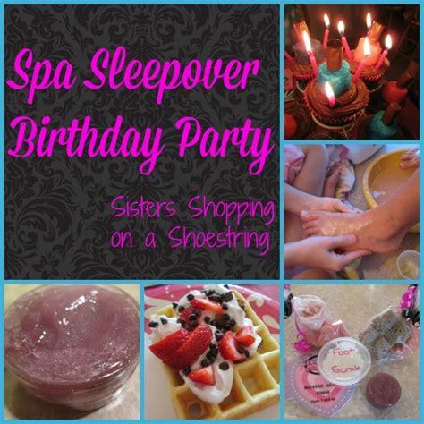 Sleepover Decorations by Spa Sleepover Birthday Food Decorations
