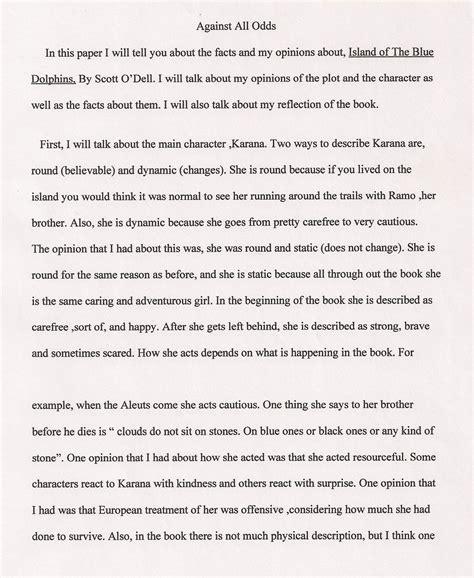 fifth grade essay sles informative essay exles 5th grade world of exle