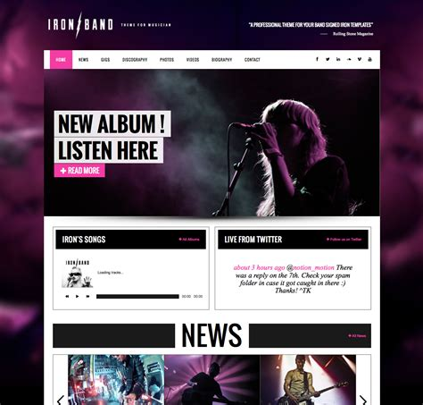 ironband music wordpress theme wpexplorer