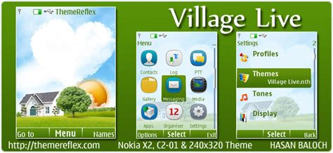 themes in they live village live theme for nokia x2 c2 01 240 215 320 themereflex