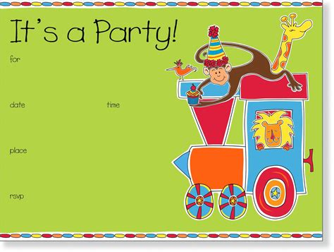 kids christmas party invitation template