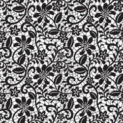 lace template black seamless lace pattern on white background stock