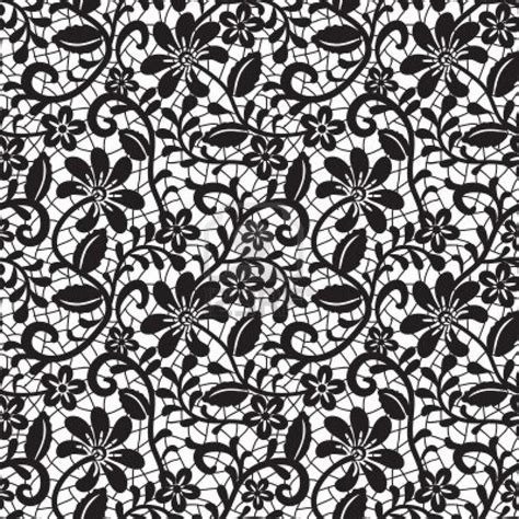 lace pattern hd black seamless lace pattern on white background stock