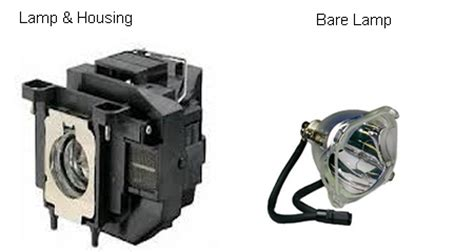 bare bulb vs lamp assembly housing projector lamp