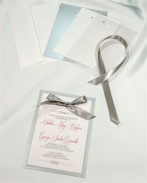 silver layered invitations simple yet each