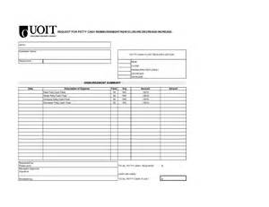 petty template xls petty reimbursement form template besttemplates123