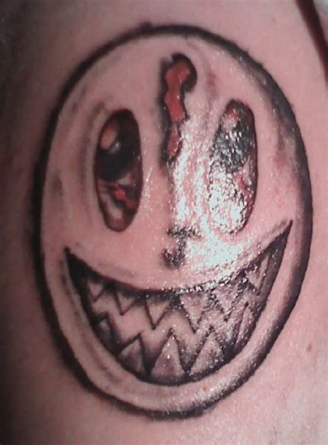 evil smiley tattoo 1st evil smiley