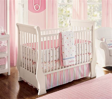Nursery Bedroom Set by Pink Bedding For Pretty Baby Nursery From Prottery Barn Kidsomania