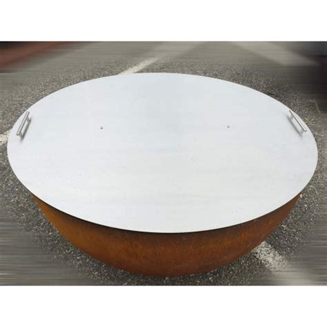 abdeckung feuerschale passende abdeckung aus inox edelstahl zu feuerkugel 248 124