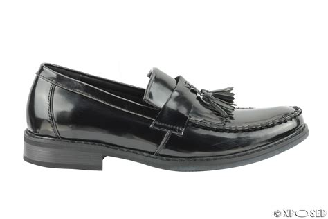 vintage mens loafers mens vintage style polished faux leather tassel loafers