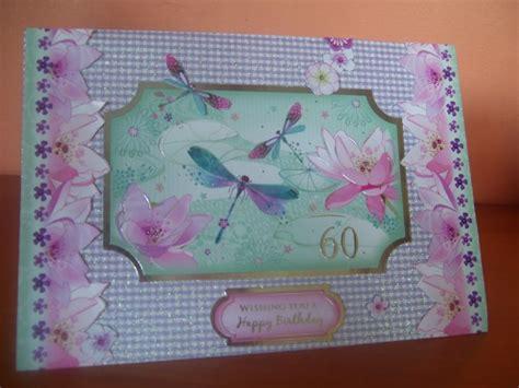 Handmade 60th Birthday Card Ideas - handmade 60th birthday card using hunkydory card