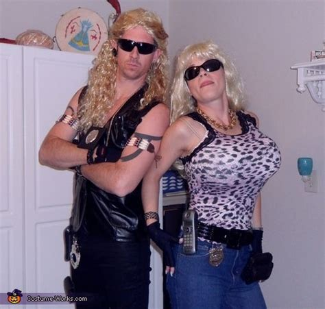 dog the bounty hunter and beth costume we homemade and