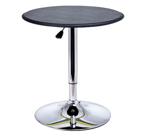Modern Bar Table Homcom Modern Adjustable Bar Table Black