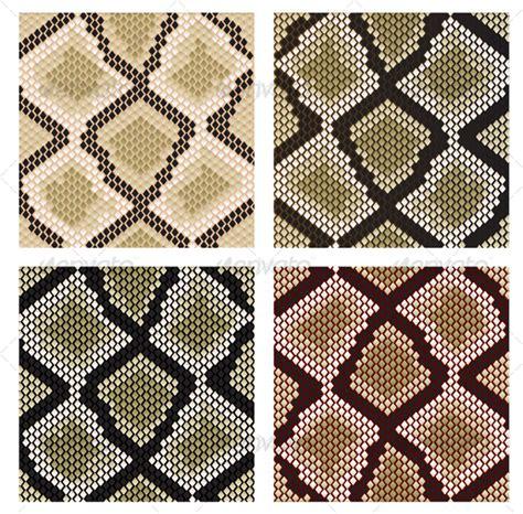design pattern viper set of snake skin patterns decorative vectors