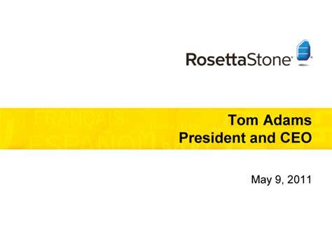 rosetta stone inc rosetta stone inc form 8 k ex 99 2 may 9 2011