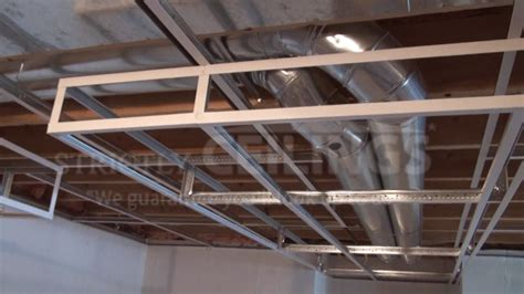 Build Basic Suspended Ceiling Drops Drop Ceilings How To Install A Suspended Ceiling