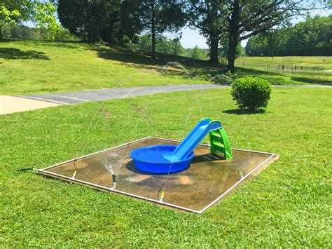 how to make a backyard splash pad little white house blog our diy splash pad