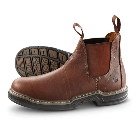 romeo boots for s wolverine 174 romeo pull on boots brown