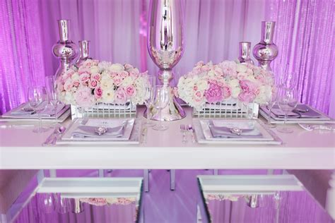 blushed glamourous wedding decor inspiration