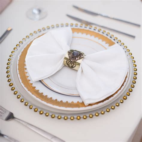 gold beaded glass charger plates beyond expectations